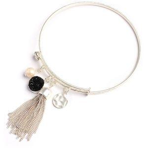 Jewelry - silver druzy charm bracelet